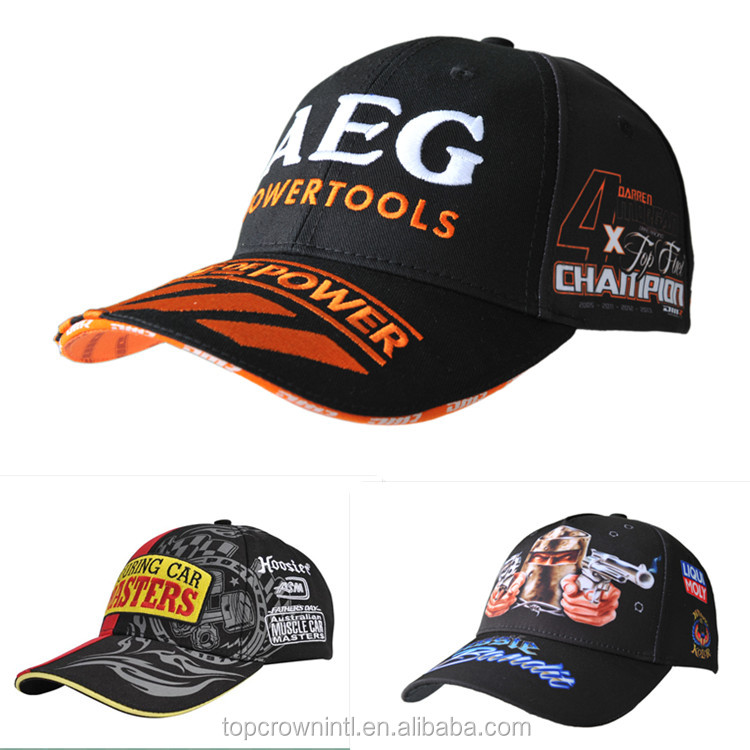 Custom 100% Cotton Embroidery World Auto Racing Baseball Cap B77