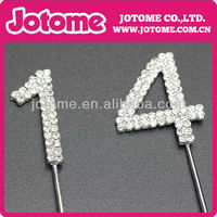 Professional High Quality Double Numbers Rhinestone Cake Topper