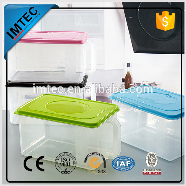 2016 new transparent Pp sealable plastic food container airtight box