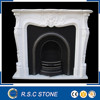 Best price french style white marble fireplace mantel