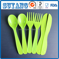 Newest Design Polylactic acid Biodegradable Spoon, Fork and Knife