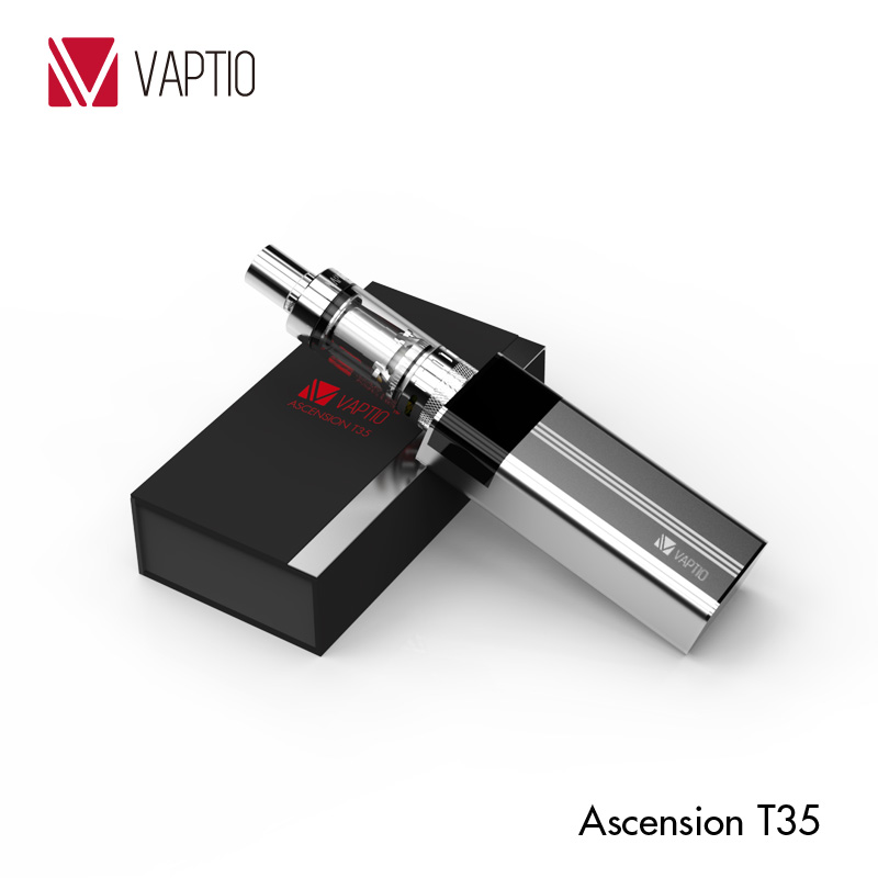 Vaptio vaping mods 35w box vape Ascension T35 Ni 200 temperature control mod cheap electronic cigarette prices