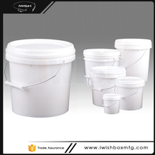 High Quality 5 Liter Food Grade Plastic Pail With Handle And Lid For Beach Fishing