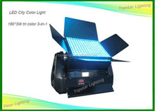 Dmx512 Outdoor Led City Color Search Light 180 x 3w 3-In-1 RGB Tri Color Led Wall Washer Aluminum Alloy Shell 200m Dista