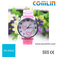 2016 cheap heart-shaped pattern custom Silicone Watch