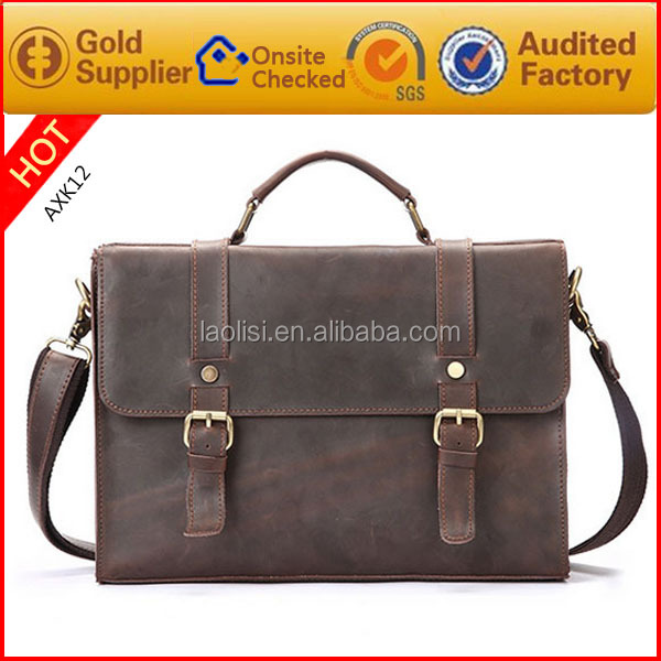 2017 trending products high quality executive leather briefcase for men