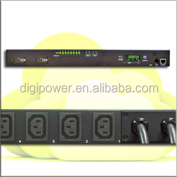 Automatic Transfer Switch 32A 230V, Per outlet switch and monitor