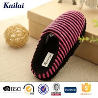 2015fashion warm striped slippers brand name