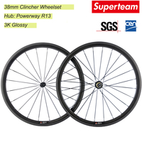 Factory Price 700C 38mm Full Carbon Wheelset Road Bike/Bicycle Carbon Wheels 23mm Width Rim Wheelset