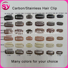 2.3Cm Straight Teeth Stainless Steel Hair Clip For Wig, Metal Hair Extension Clip
