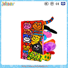 Jollybaby Hot Selling And Promotional Washable Kids Favorite Baby Soft Book With Animals Tails