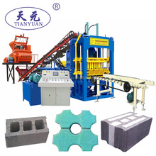 Cement raw material QTY6-15C concrete hollow block and interlocking paving brick making machine