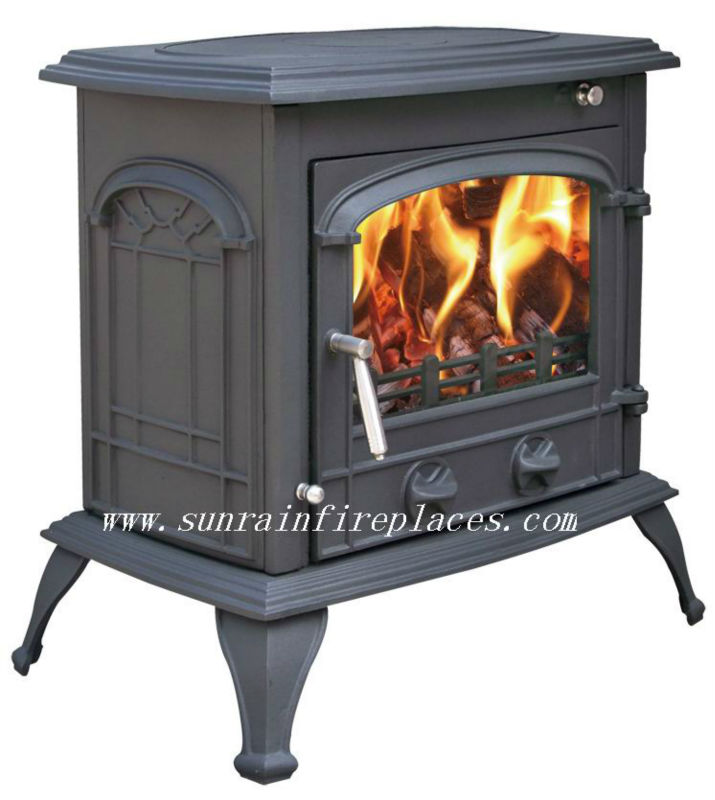 cast iron heating stove and fireplace
