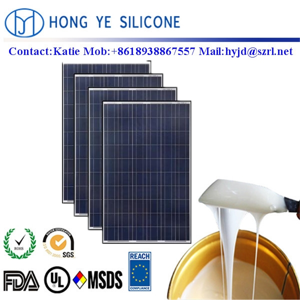 UV resistant 2-component liquid electronic <strong>silicone</strong> for solar panels