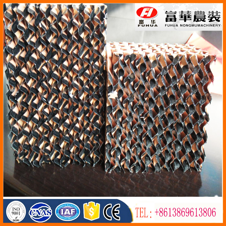 honey comb evaporate cooling pad for poultry farm greenhouse cooling system