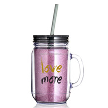 18OZ/500ml Plastic Mug with Handle and Lid