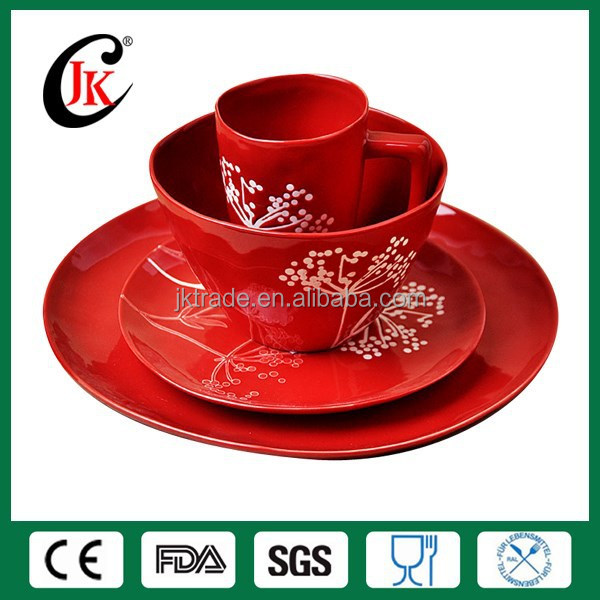 Wholesale 16pcs custom cheap ceramic stoneware dinnerware