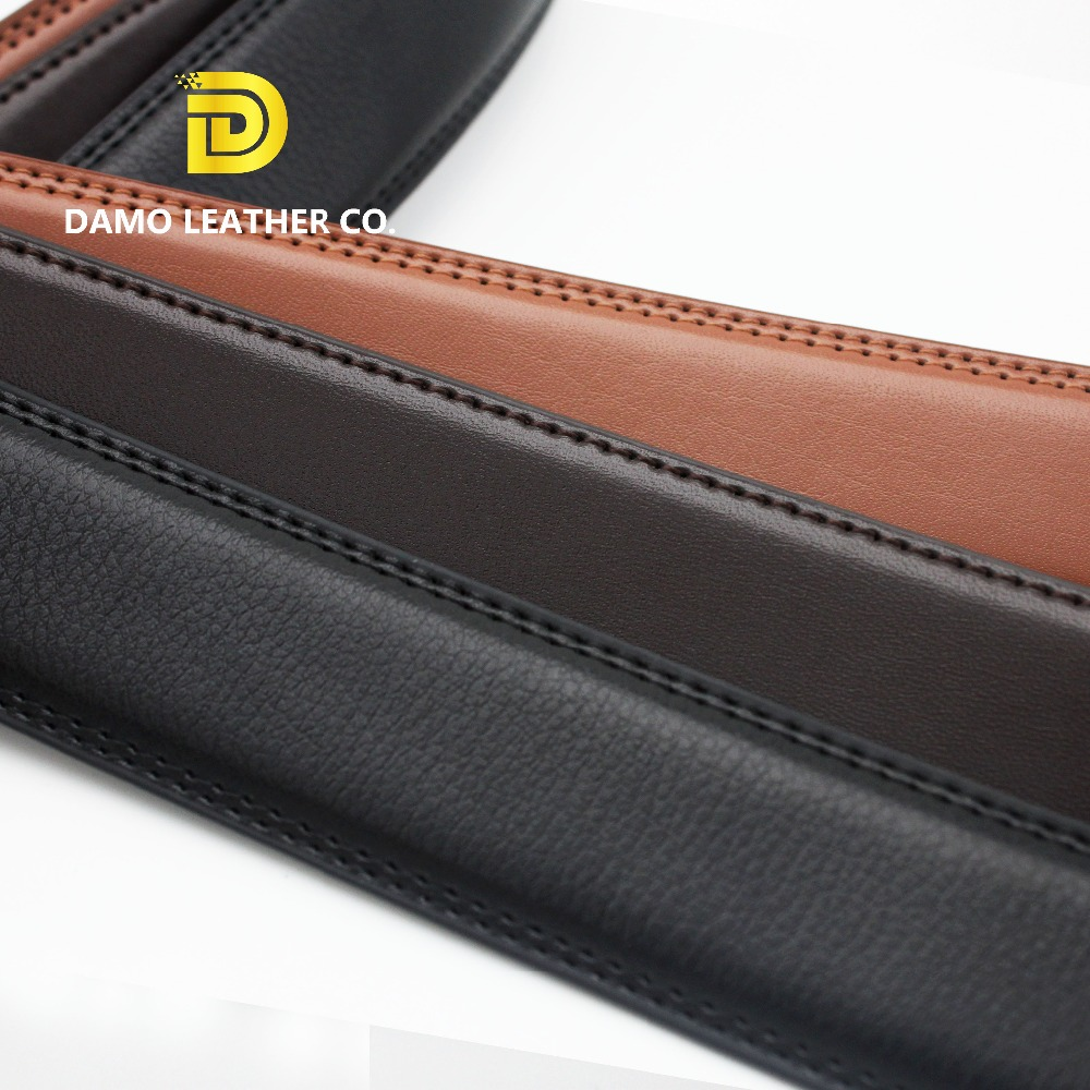 Customized Genuine Leather Strap Men's Automatic Buckle <strong>Belt</strong> Without Buckles Ratchet <strong>Belt</strong> Strap