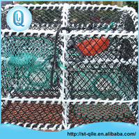 Hot selling metal frame pe aquaculture trap nets crab/fish farming cage