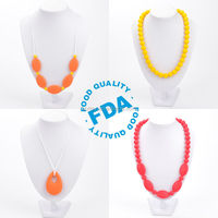 Silicone Teething Necklace Baby chew jewellery