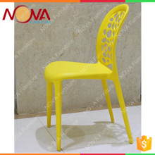 Best quality cheap dining room used stackable plastic colorful dinner chairs