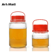 Factory Direct Sales Plastic Lid Cheap Glass Carboy Jar for Brewing