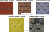Chinese high quality asphalt roof tiles for building materials