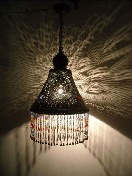 Turkish beaded shades Lamp