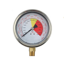 "100mm Glycerin Filled 0-90000LB/psi Helical Type Bourdon Tube NPT1/4"" Pressure Gauge"