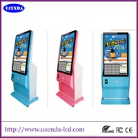 the latest 46 inch lcd open sex video advertising board with webcam portable photo booth for taking pictures