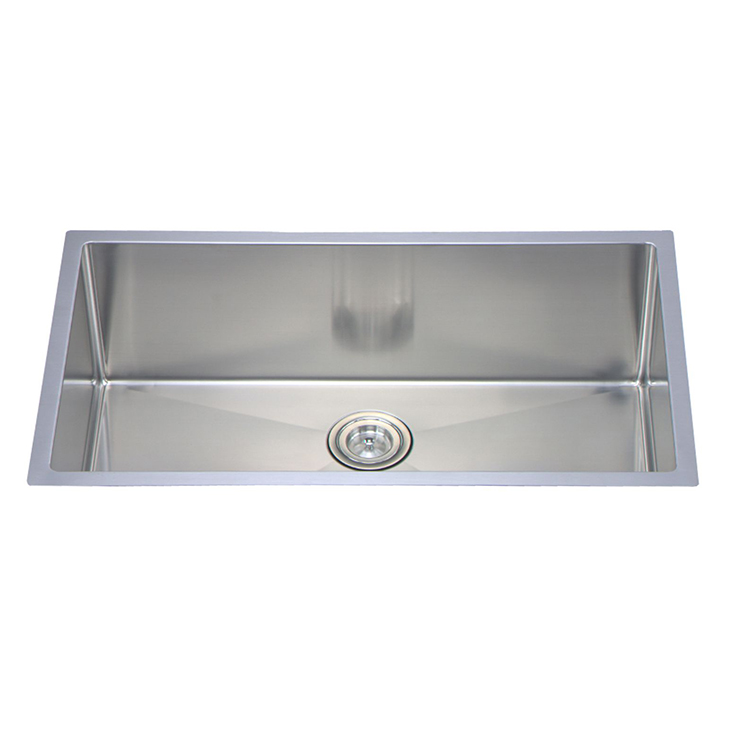 good quality 15 inch farmhouse handmade stainless steel kitchen sink with overflow