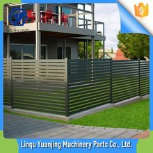 Aluminum slat privacy fence decorative pool swimming safety fences galnavized steel horizontal fence panel manufacture for sale