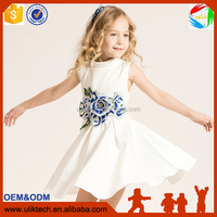 wholesale alibaba factory supply children frocks designs white girls cotton dress boutique embroidery baby girls clothes
