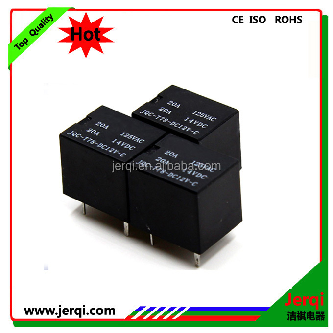 T78 types of mini power relay 20A PCB mounting relay