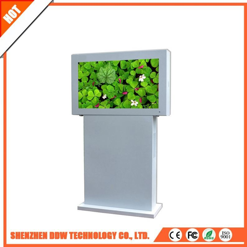 Hot sale fashionable design car free standing lcd solar power advertising display outdoor landscape floor stand