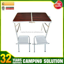 portable suitcase folding table for outdoor picnic