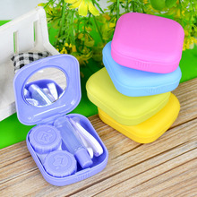 5 colors Contact Lens Case Travel Pocket Mini Kit Mirror Container