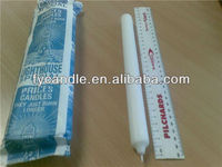 Velas Brancas Light House Special/ White Flute Ridge Candles/ Bougies/ Factory Manufacturer in Gao Cheng China