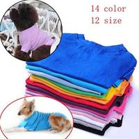 Pet Clothing Wholesale small dog clothing T-shirts 16 Colors 100% COTTON