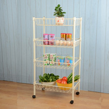 DIY Floortype Powder Coating Utility Kitchen Trolley for Home Kitchen