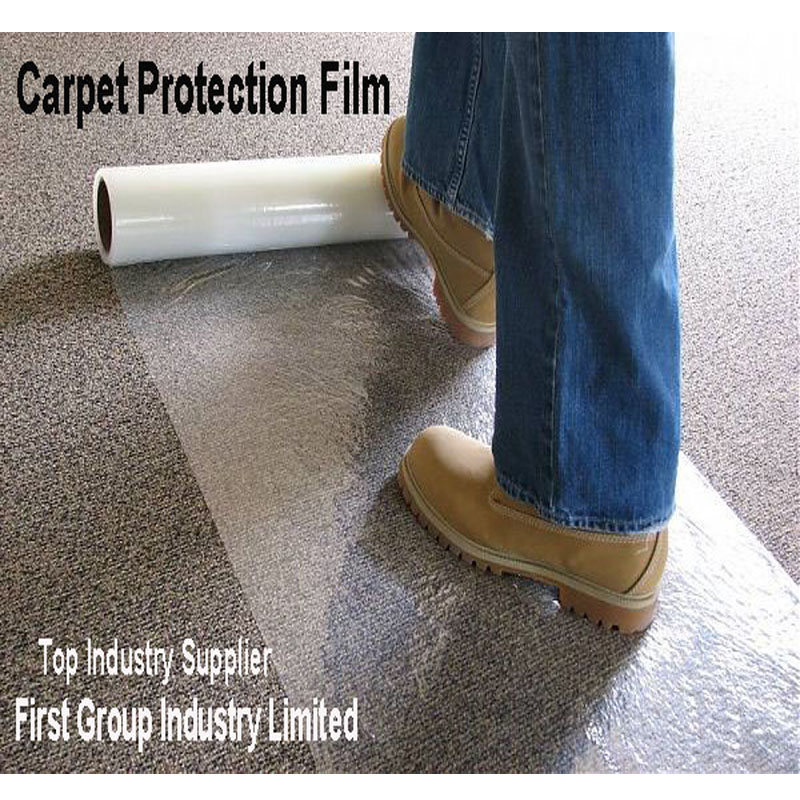 PE Surface Carpet Protection Film/Transparent Polyethylene protective Strench/Stretch film