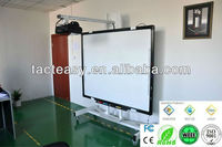 Four users writing touch screen interactive whiteboard