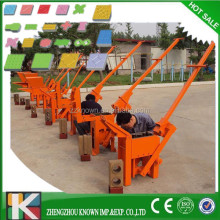 burning-free portable hollow concrete block making machine,movable concrete brick maker