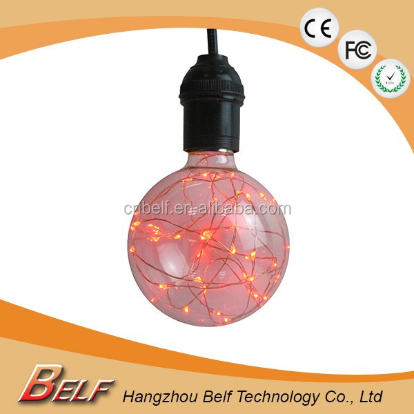 B22 E27 G95 1W RGB LED Bulb 7 Color Changing non-Dimmable Light