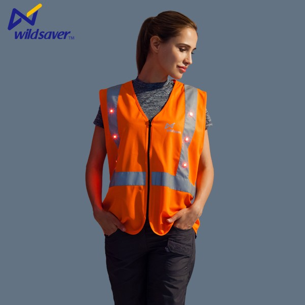 Cheap orange custom working tool vest womens workwear