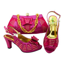 Women African designer shoes and bags to match wholesale italian shoes and bag set