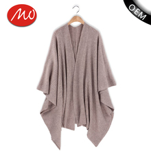 Autumn cashmere shawl neck easy poncho knitting pattern cardigan for wholesale