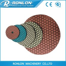 China Top Brand honeycomb diamond dry flexible polishing pads for stone
