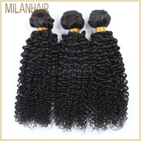 Wholesale Raw 100% Human 16 Inch Unprocessed Virgin Afro Mongolian Kinky Curly Hair