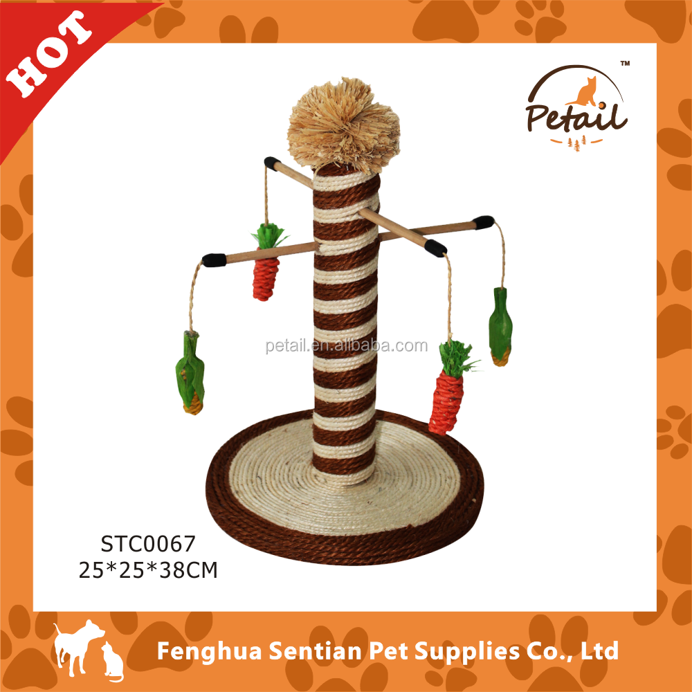 Sisal scratching post cat tree cat toy